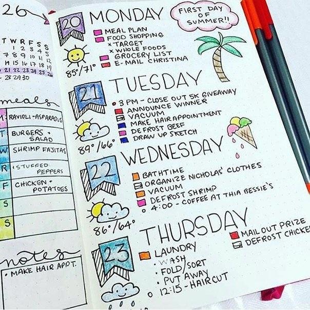 Как оформить красиво ежедневник - фото (15)