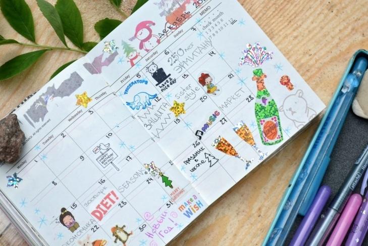 Как оформить красиво ежедневник - фото (17)