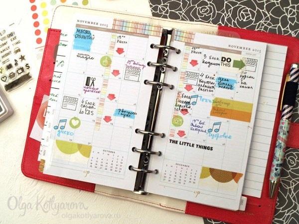 Как оформить красиво ежедневник - фото (19)