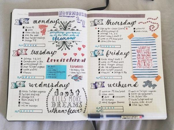 Как оформить красиво ежедневник - фото (20)