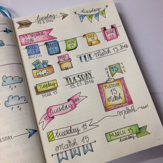 Как оформить красиво ежедневник   фото (4)