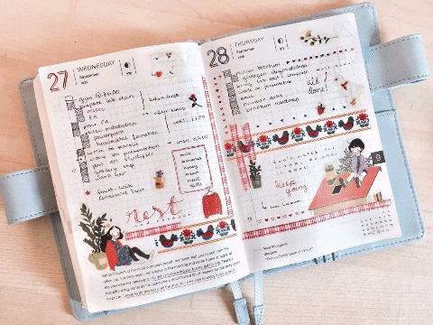 Как оформить красиво ежедневник - фото (6)
