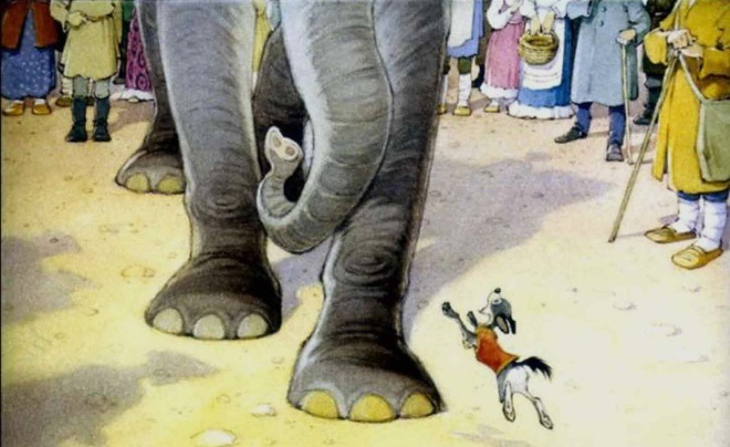 Картинка моська и слон (1)