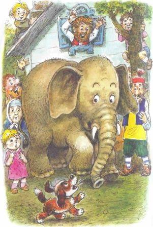 Картинка моська и слон (10)