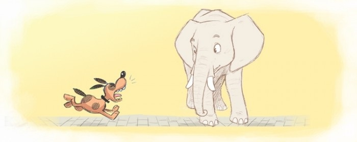 Картинка моська и слон (15)