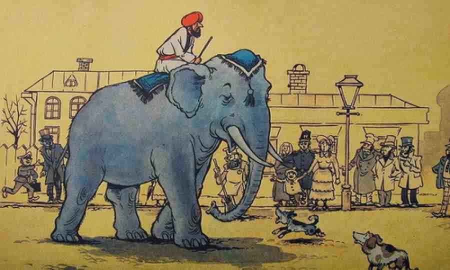 Картинка моська и слон (2)