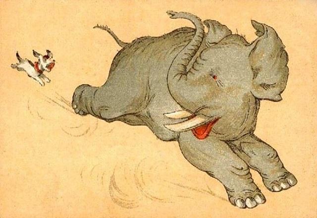 Картинка моська и слон (22)