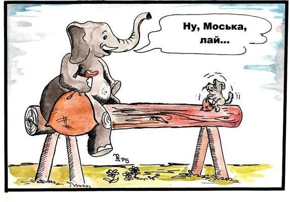 Картинка моська и слон (4)