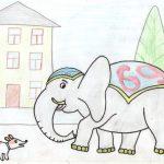 Картинка моська и слон