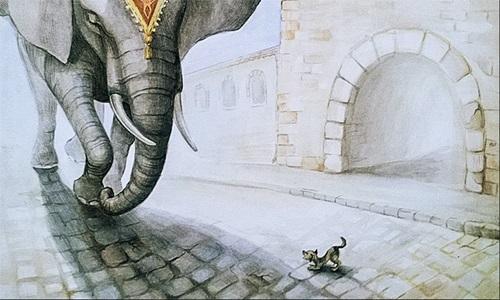 Картинка моська и слон (7)
