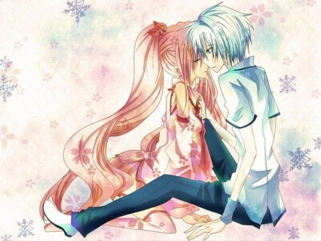 Картинки аниме на аву влюбленные (14)