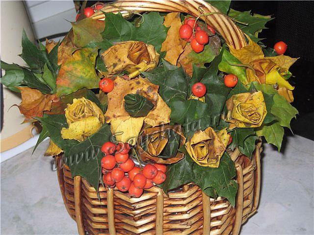 Картинки букет осенних листьев (1)