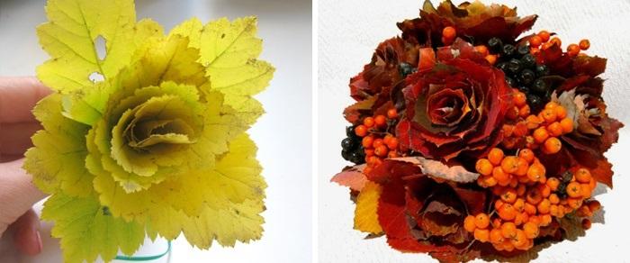 Картинки букет осенних листьев (12)