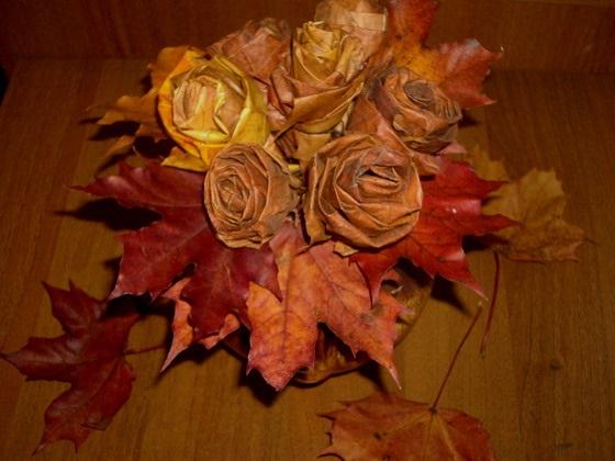 Картинки букет осенних листьев (15)