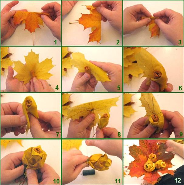 Картинки букет осенних листьев (3)