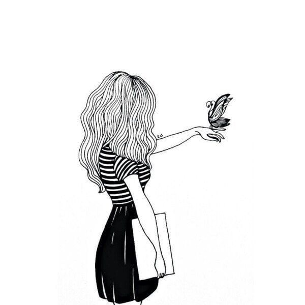 Картинки для срисовки девушки легкие (1)