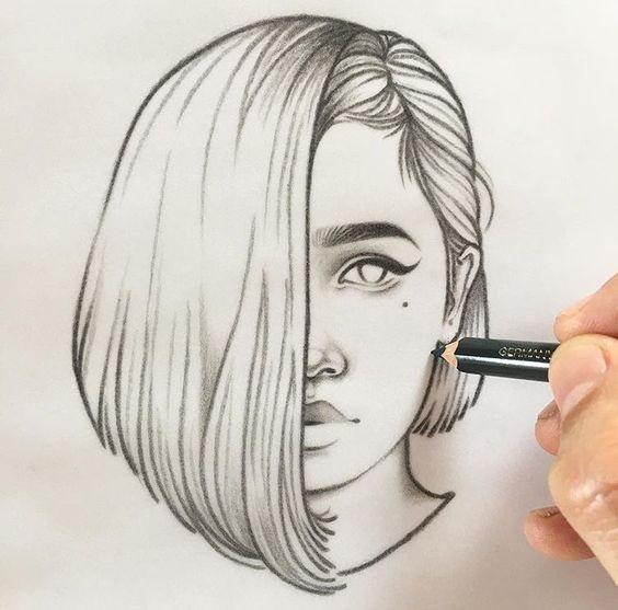 Картинки для срисовки девушки легкие (14)
