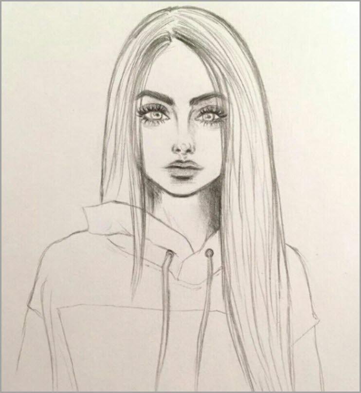 Картинки для срисовки девушки легкие (16)