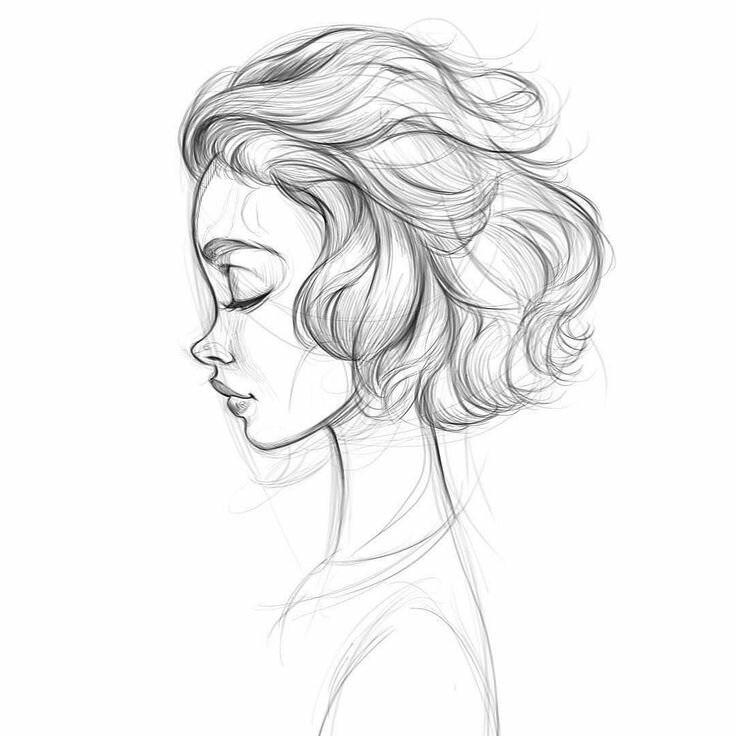 Картинки для срисовки девушки легкие (18)