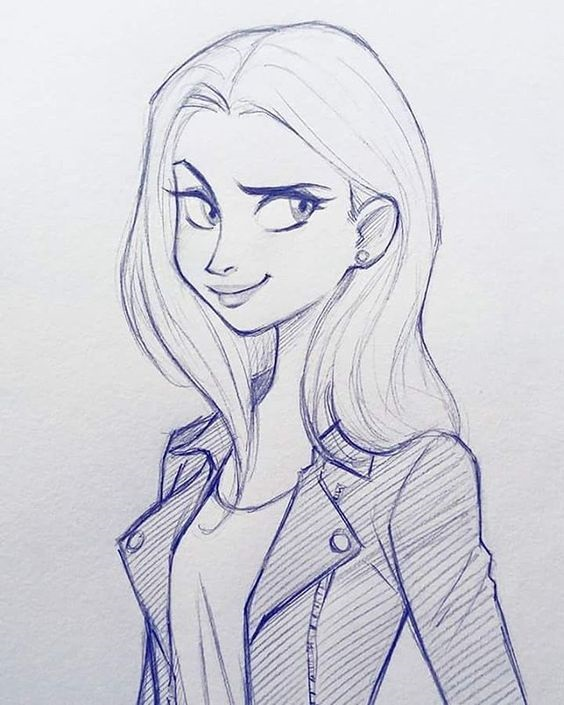Картинки для срисовки девушки легкие (19)