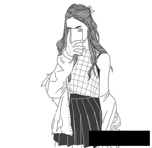 Картинки для срисовки девушки легкие (2)