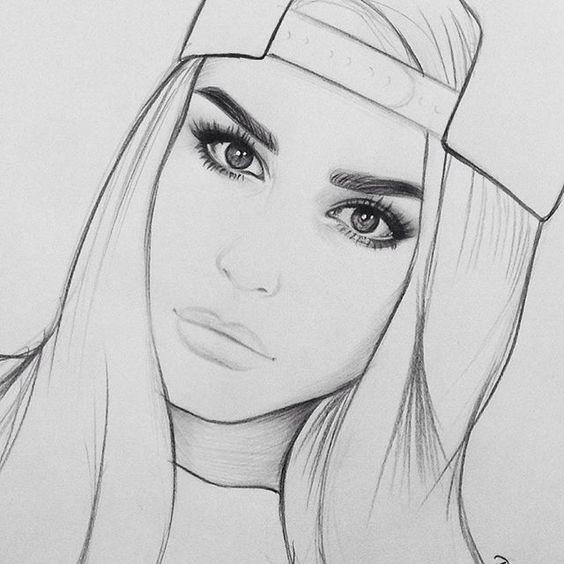 Картинки для срисовки девушки легкие (24)