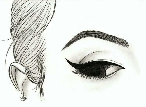 Картинки для срисовки девушки легкие (26)