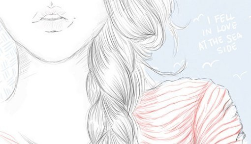 Картинки для срисовки девушки легкие (29)