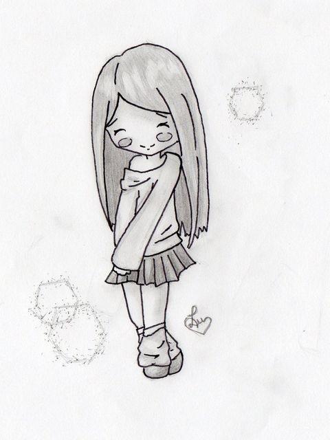 Картинки для срисовки девушки легкие (8)