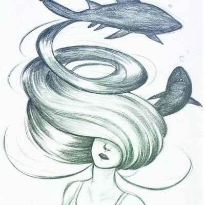 Картинки для срисовки девушки легкие (9)