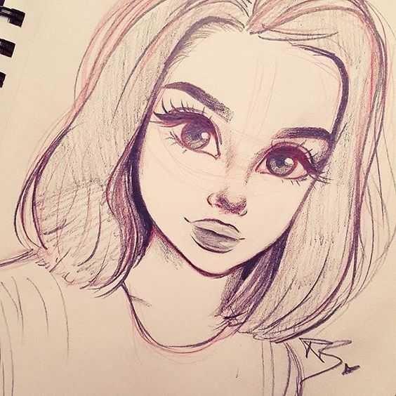 Картинки для срисовки для девочек легкие (17)