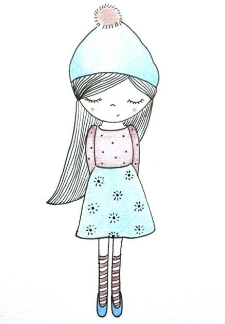 Картинки для срисовки для девочек легкие (26)