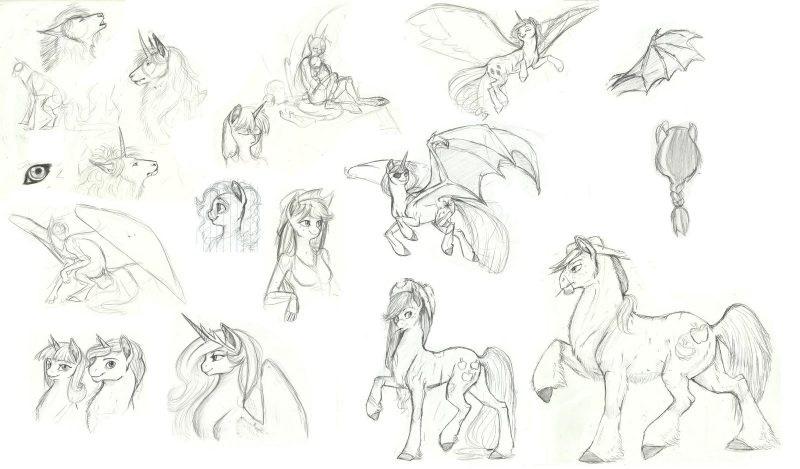 Картинки для срисовки пони карандашом (12)