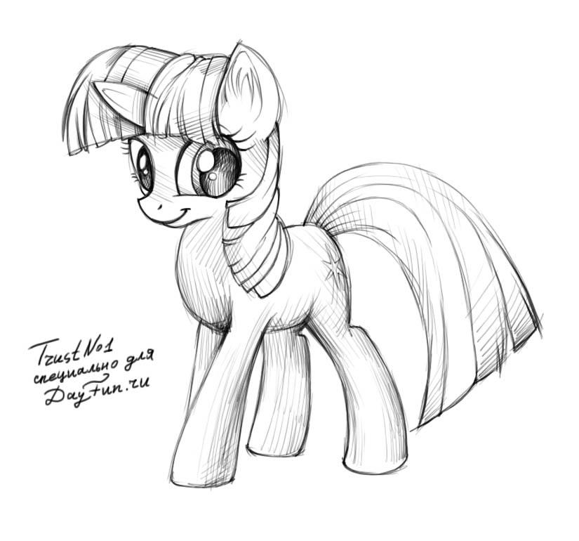 Картинки для срисовки пони карандашом (15)