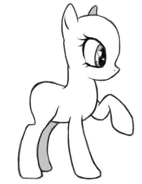 Картинки для срисовки пони карандашом (2)