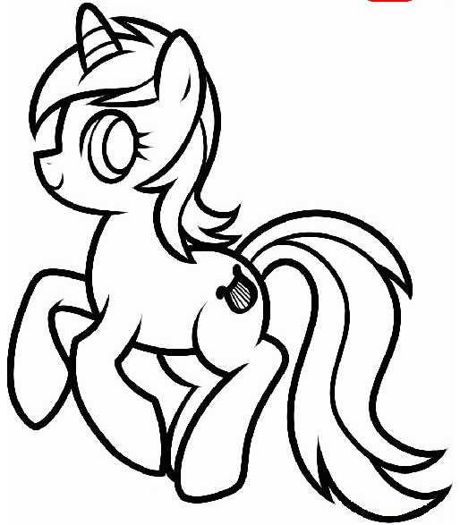 Картинки для срисовки пони карандашом (6)
