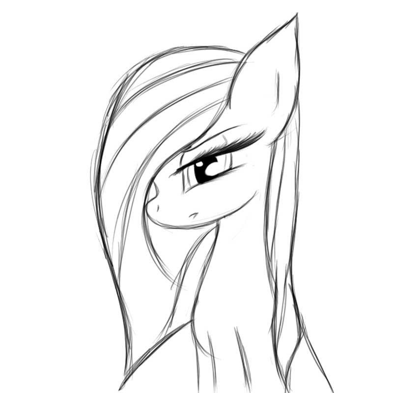 Картинки для срисовки пони карандашом (8)