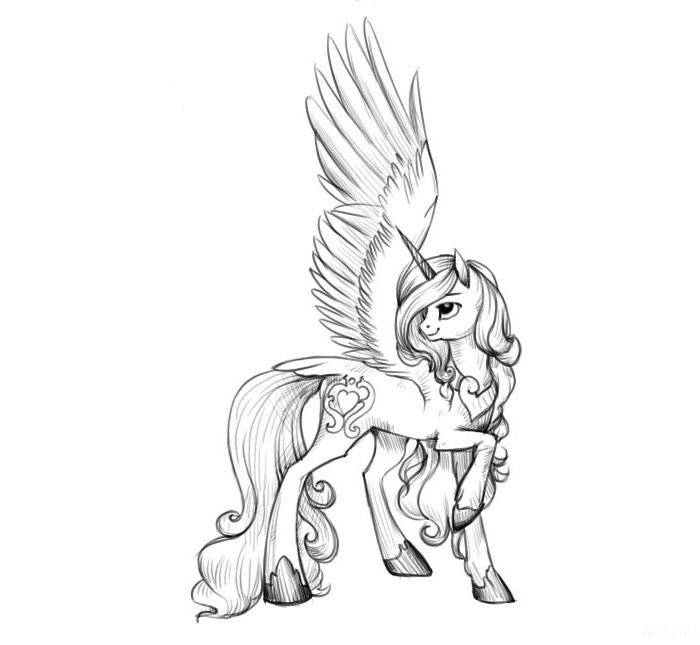 Картинки для срисовки пони карандашом (9)