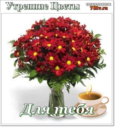 Картинки доброе утро и цветы (17)