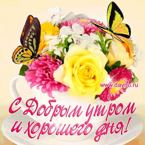 Картинки доброе утро и цветы (4)