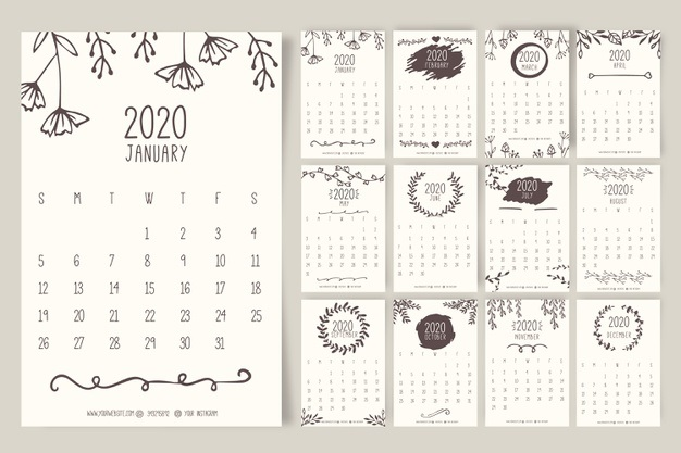 Картинки календарь тумблер 2020 (17)