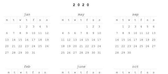 Картинки календарь тумблер 2020 (9)
