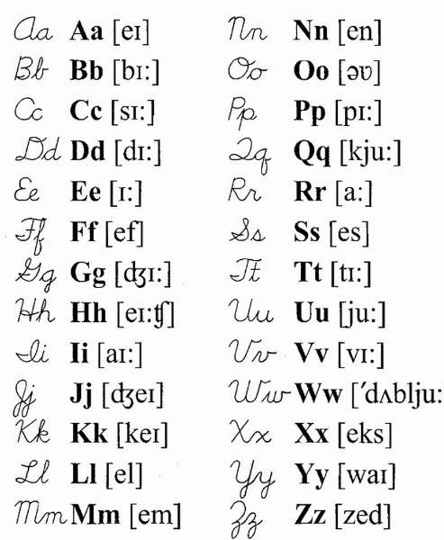 Картинки каллиграфия на английском (11)