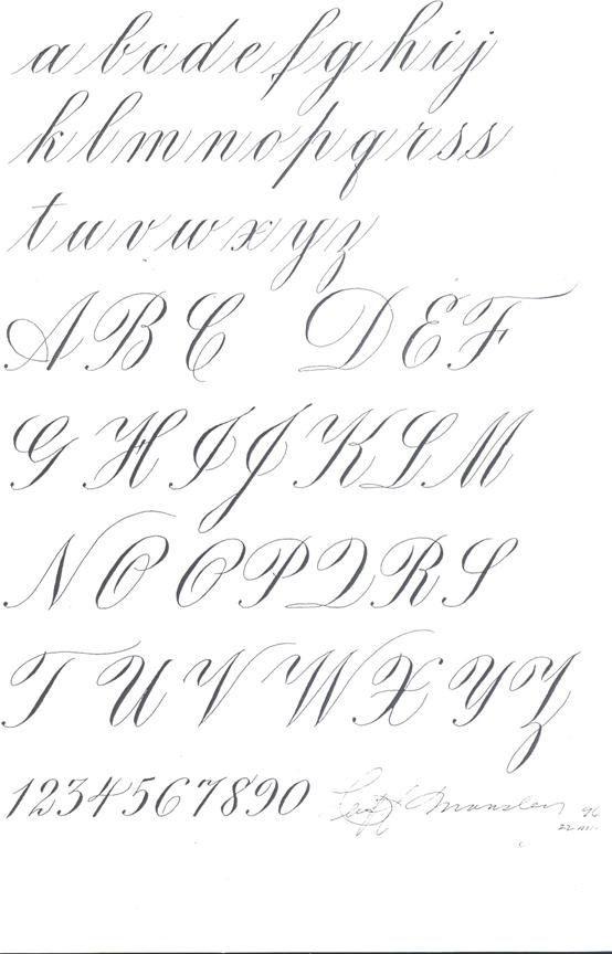 Картинки каллиграфия на английском (12)