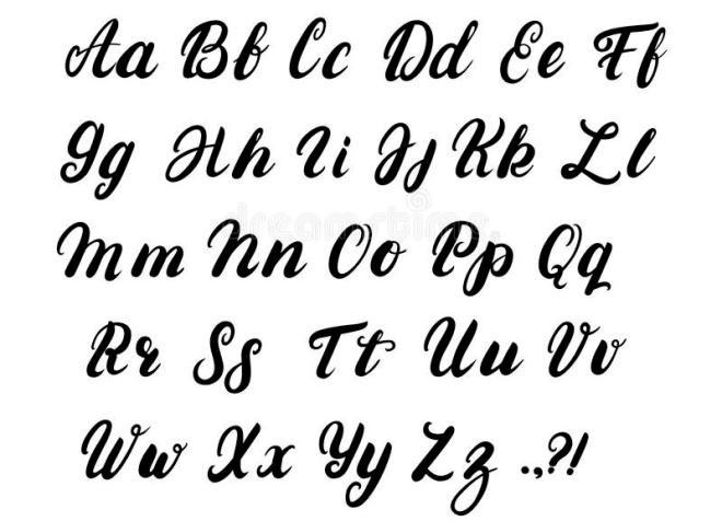 Картинки каллиграфия на английском (15)
