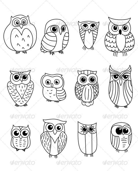 Картинки сова для срисовки (1)