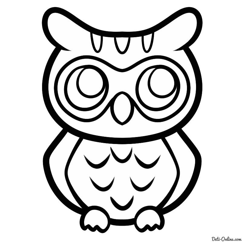Картинки сова для срисовки (5)