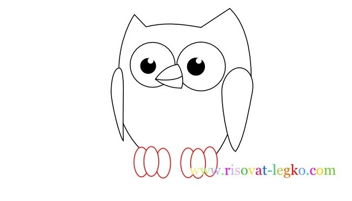 Картинки сова для срисовки (9)