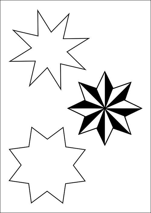 Картинки шаблоны звезды (1)