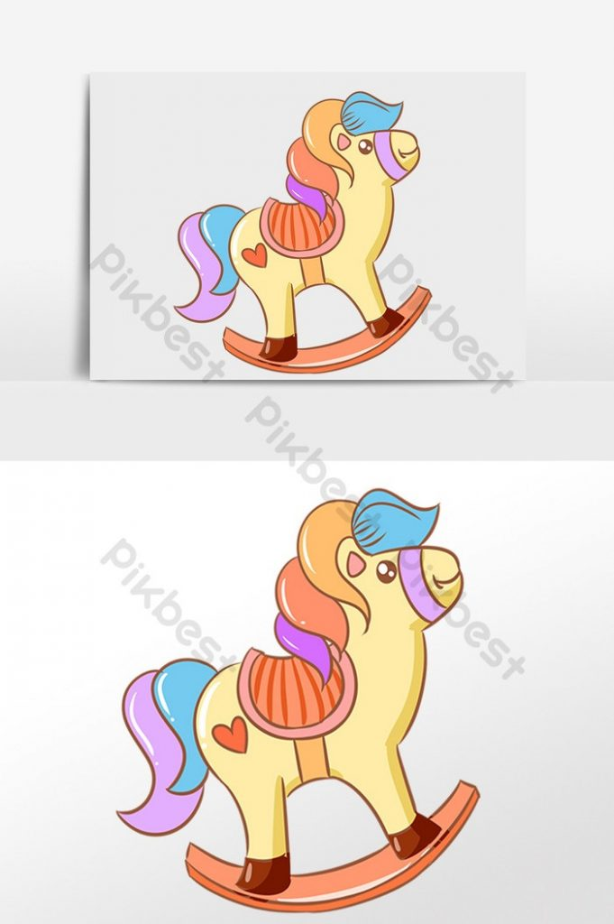 Качалка лошадка рисунок (16)